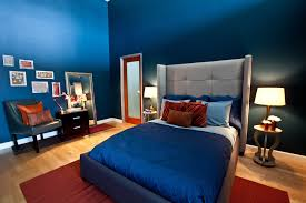 Navy Blue Bedroom by Bedroom Decorating Navy Blue Bedroom Painted Wall Gray Queen Bed