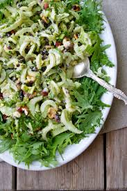shaved celery salad in pursuit of more