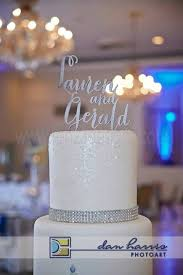 Personalized Names Add An Interlocking Monogram Acrylic Cake Topper For A Unique Touch