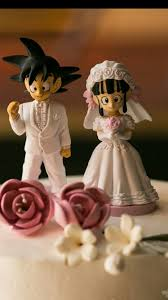z cake topper our cake toppers goku and chi chi from z my