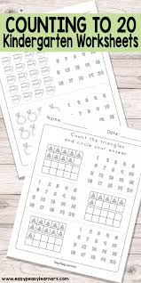 kindergarten counting worksheets numbers to koogra