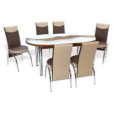 ellipse extendable dining table set hannah concept