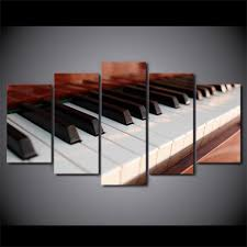 musical home decor 5 piece canvas art piano keys music canvas painting home decor