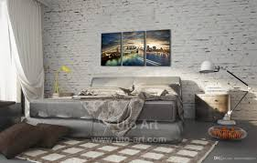 2017 home decor canvas 5 panel wall art painting manhattan