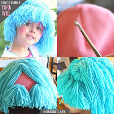 wigs for kids halloween easy raggedy yarn wig tutorial u create