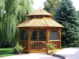 screened gazebo on deck with fire pit tent floor 5653 interior
