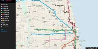 cta line map cta tracker map debuts chicago app shows your