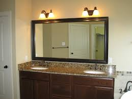 Bathroom Lighting  Simple Bathroom Mirror And Lights On A Budget - Bathroom mirror and lights