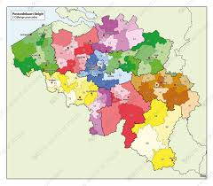 belguim map digital 1 and 2 digit postcode map belgium 750 the world of maps