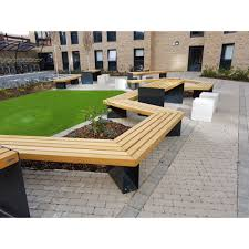 surface fixed hardwood timber bench the ambleside logic