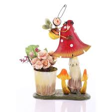 buy wonderland mushroom with bee pot planter