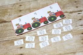 tractor kindergarten printable pack free royal baloo