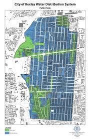Ohio City Map The City Of Bexley Ohio Water Department