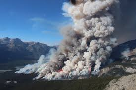 Wildfire Canada Today by Ravenous Forest Fire Swallowing Tens Of Thousands Of Litres Of