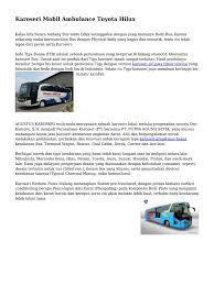 download karoseri mobil ambulance toyota hilux docshare tips