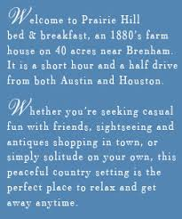 Brenham Bed And Breakfast Prairie Hill Bed And Breakfast