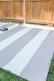 Laying Patio Slabs On Grass How To Paint Stripes Like An Outdoor Rug On Patio Concrete Slab