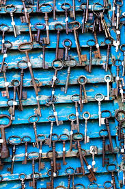 paris photography antique keys at flea market in paris france