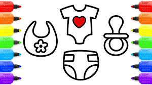 baby toy accessories and clothing for baby doll drawing and