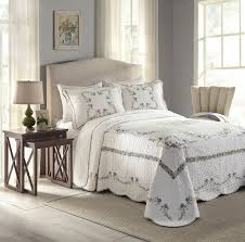 Bedspreads King Amazon Com Modern Heirloom Collection Heather Cotton Filled