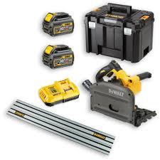 dewalt dcs520t2 xr flexvolt plunge saw u0026 2 x 54v batteries