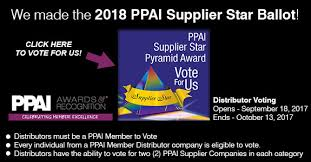 Counselor Distributor Choice Awards 2013 We Been Nominated For The 2018 Ppai Supplier Pyramid Award