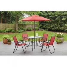 6 Seat Patio Dining Set Amazon Com Mainstays Searcy Lane 6 Piece Padded Folding Patio