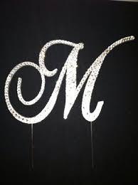 cake topper monogram monogram bling cake topper weddings planning wedding forums