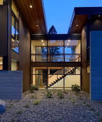 modern luxury homes exterior with black window trim seattle