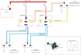 headlight wiring diagram headlight wiring diagrams instruction