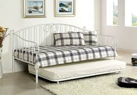 White Metal Daybed With Trundle Appealing Metal Daybed With Trundle Versailles Or Without And