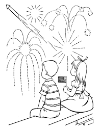 fireworks rocket coloring pages kids watching fireworks coloring
