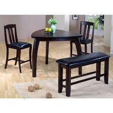 triangle pub table set sunrise home furnishings trio 4 piece triangle pub set with 2 chairs