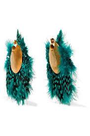 feather earrings s katerina makriyianni shop who what wear