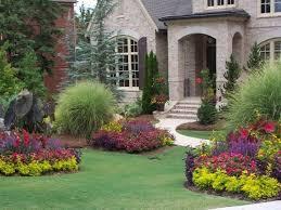 landscape ideas front yard landscape with colorful flowers ideas