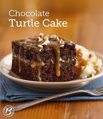 chocolate turtle cake recipe caramel pecan and food cakes
