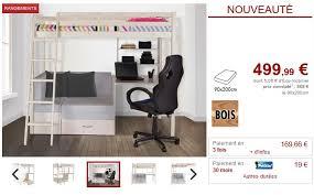 vente unique bureau lit mezzanine goliath bureau sofa rangements lit enfant vente