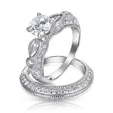 best cubic zirconia engagement rings wedding rings cubic zirconia wedding sets walmart sterling