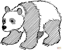 coloring pages draw panda bear giant creativemove