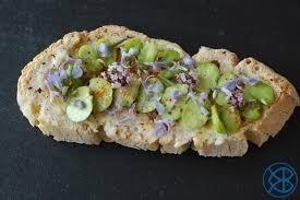 fleur de thym cuisine recette pied tartine de fèves aux parfums de fleurs de thym et