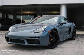 porsche graphite blue interior new 2018 porsche 718 cayman