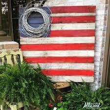 Flag Ideas American Flag Decor Ideas The Weathered Fox