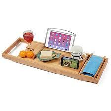 adjustable bathtub caddy expandable bamboo bathtub caddy adjustable wooden serving tray
