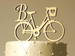 bicycle cake topper bicycle bike monogram topper wooden monogram topper