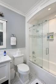 sky blue barrel bathroom ceiling transitional bathroom