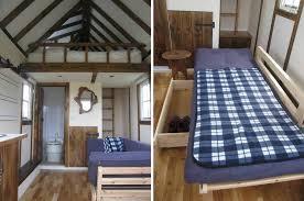 vagabode tiny house swoon i love exposed beams this tiny home in scotland has many fold away