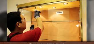 display cabinet glass sliding doors how to install a sliding glass cabinet door construction repair