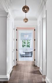 Hallway Pendant Lighting Contemporary White Hallway With Pendant Lights Luxe