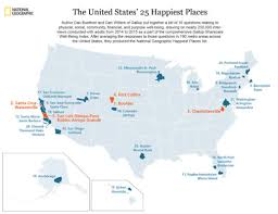happiest states in america breaking nat geo gallup announce 25 happiest cities in the u s