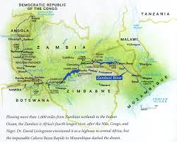 Zambia Map Zambezi River Map Zambia U2022 Mappery